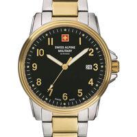Relojes & Joyas Hombre Relojes analógicos Swiss Alpine Military 7011.1147, Quartz, 42mm, 10ATM Plata