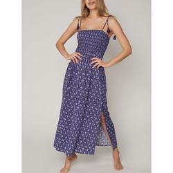 textil Mujer Vestidos largos Admas Vestido largo de verano Navy Cashmere Azul Marine