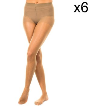 Ropa interior Mujer Medias Marie Claire Panty 15 deniers pack 6 ud. Marrón