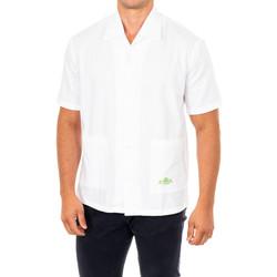 textil Hombre Camisas manga corta La Martina Camisa manga corta Blanco