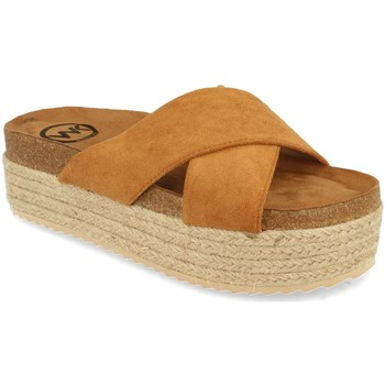 Zapatos Mujer Zuecos (Mules) Woman Key MT-53 Camel