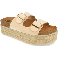 Zapatos Mujer Zuecos (Mules) Woman Key MT-51 Beige