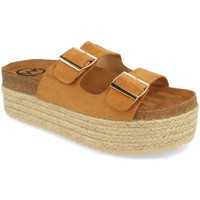 Zapatos Mujer Zuecos (Mules) Woman Key MT-51 Camel
