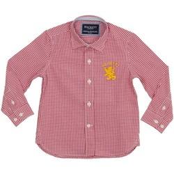 textil Niño Camisas manga larga Hackett Camisa Hackett Rojo