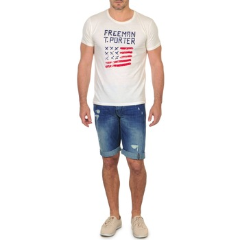 textil Hombre Shorts / Bermudas Freeman T.Porter DADECI SHORT DENIM Azul