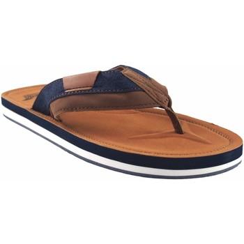 Zapatos Hombre Chanclas Bitesta Sandalia caballero  21s 0902b cuero Marrón