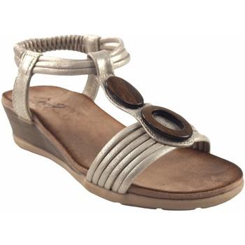 Zapatos Mujer Sandalias Deity Sandalia señora  17362 ybz platino Oro