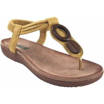 Zapatos Mujer Chanclas Amarpies Sandalia señora  17063 abz mostaza Amarillo