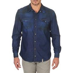 textil Hombre Camisas manga larga Freeman T.Porter CORWEND DENIM Azul