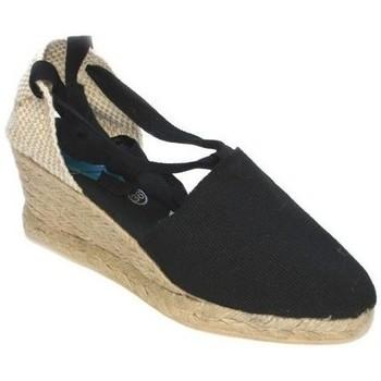 Zapatos Mujer Alpargatas Cbp - Conbuenpie Alpargatas Valencianas con cuña by CBP Noir