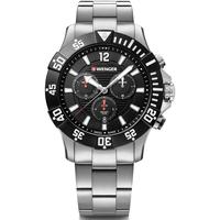 Relojes & Joyas Hombre Relojes analógicos Wenger 01.0643.117, Quartz, 43mm, 20ATM Plata