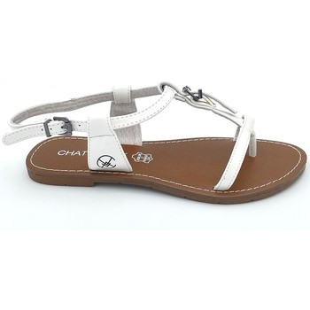 Zapatos Mujer Sandalias Chattawak Sandale 11-ZHOE Blanc Blanco