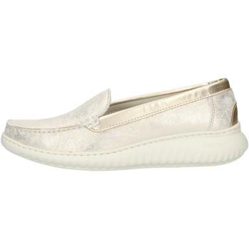 Zapatos Mujer Mocasín Notton 3117 Platino