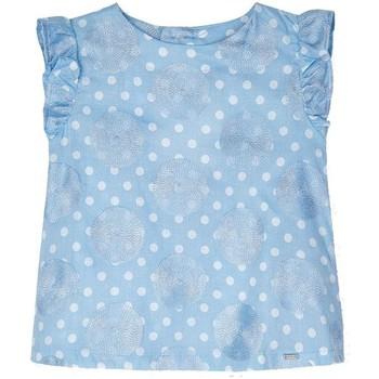 textil Niña Camisas Mayoral Bluson topos bordado Azul