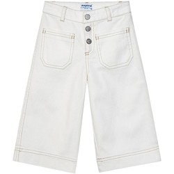 textil Niña Pantalones Mayoral Pantalon culotte bolsillos Blanco