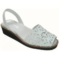 Zapatos Mujer Sandalias Avarca Cayetano Ortuño Avarcas Menorquinas con cuña y gel by CBP Blanc