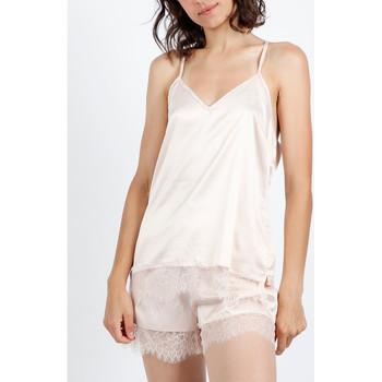 textil Mujer Pijama Admas Pijama corto sin mangas azul marino y negro Amarillo