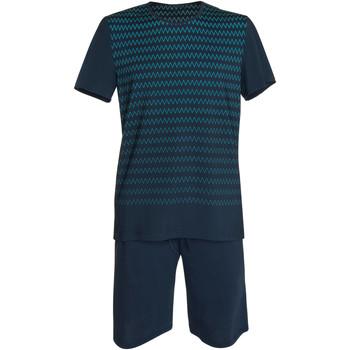 textil Hombre Pijama Lisca Pantalones cortos de pijama camiseta Hypnos azul  Hombres Azul