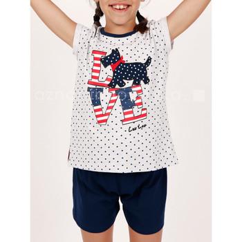 textil Niña Pijama Admas Chica pijama camiseta corta LouLou Love gris Gris Claro