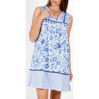 textil Mujer Pijama Admas Vestido de verano sin mangas Etienne azul Azul