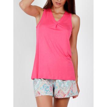 textil Mujer Pijama Admas Pyjama short débardeur Colored Diamonds rose Rosa Pálido