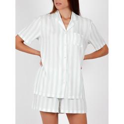 textil Mujer Pijama Admas Camisa de pijama corta Classic Stripes verde Verde Oscuro