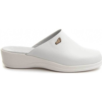 Zapatos Mujer Zuecos (Mules) Dkel 70461 WHITE