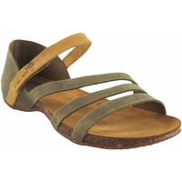 Zapatos Mujer Sandalias Interbios Sandalia señora  4476 kaki Amarillo