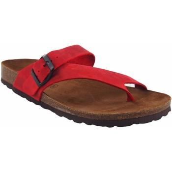 Zapatos Mujer Chanclas Interbios Sandalia señora  7119 rojo Rojo
