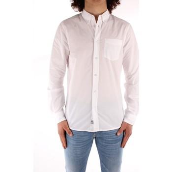 textil Hombre Camisas manga larga Blauer 21SBLUS01223 BLANCO
