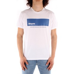 textil Hombre Camisetas manga corta Blauer 21SBLUH02132 BLANCO