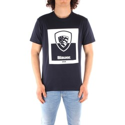 textil Hombre Camisetas manga corta Blauer 21SBLUH02131 AZUL