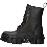 Zapatos Botas de caña baja New Rock WALL026NBASA NEGRO