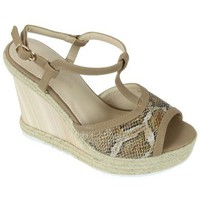 Zapatos Mujer Sandalias Kebello Compensees 580-1 beige