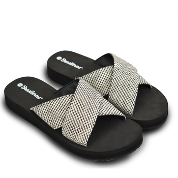 Zapatos Mujer Sandalias Brasileras Sandalia ®, Aspa Black