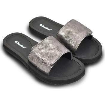 Zapatos Mujer Sandalias Brasileras Chanclas de playa ®, Platino Black