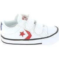 Zapatos Niños Zapatillas bajas Converse Star Player 2V BB Blanc Rouge Blanco