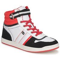 Zapatos Mujer Zapatillas altas Dorotennis STREET LACETS Rojo / Blanco / Negro
