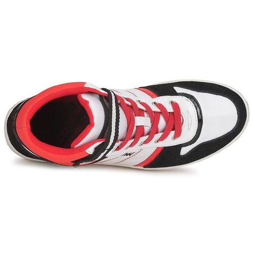 Negro Zapatos Mujer Street Dorotennis Zapatillas RojoBlanco Lacets Altas HEI2D9