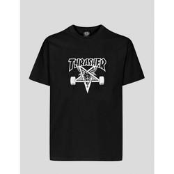 textil Hombre Camisetas manga corta Thrasher CAMISETA  SKATEGOAT T-SHIRT BLACK Negro