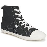 Zapatos Mujer Zapatillas altas Dorotennis MONTANTE LACET INSERT Negro