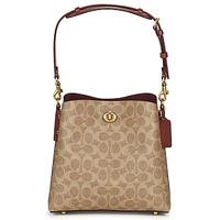 Bolsos Mujer Bolso para llevar al hombro Coach WILLOW BUCKET BAG 21 Cognac