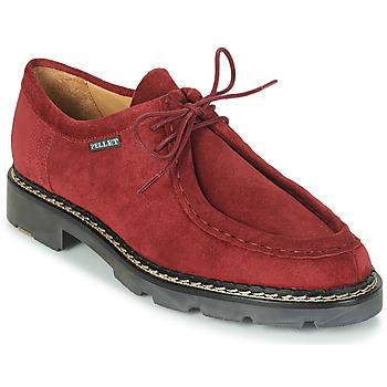 Zapatos Hombre Derbie Pellet Macho Rojo