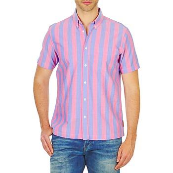 textil Hombre camisas manga corta Ben Sherman BEMA00487S Rosa / Azul