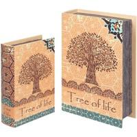 Casa Cestas, cajas y cubos de basura Signes Grimalt Cajas Libro Árbol Vida 2U Naranja