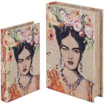 Casa Baúles, cajas de almacenamiento Signes Grimalt Set De 2 Cajas Libro Set 2U Naranja