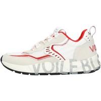 Zapatos Hombre Zapatillas bajas Voile Blanche 001201592601 blanco y rojo