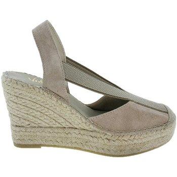 Zapatos Mujer Alpargatas Vidorreta Cuña  13900 Piedra Gris