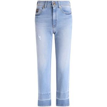 textil Mujer Vaqueros rectos Versace Jeans Couture Vaquero  de denim celeste Azul