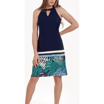 textil Mujer Vestidos cortos Lisca Vestido de verano sin mangas Tahiti Azul